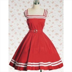 Csíkos lolita ruha