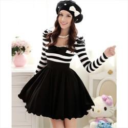 Csíkos felsős lolita ruha