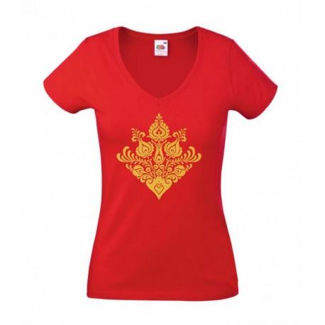 Piros-Arany Matyó (V-nyakú)
