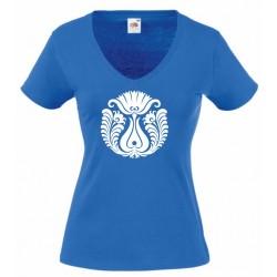 Kék-Fehér Rozmaring (V-nyakú)
